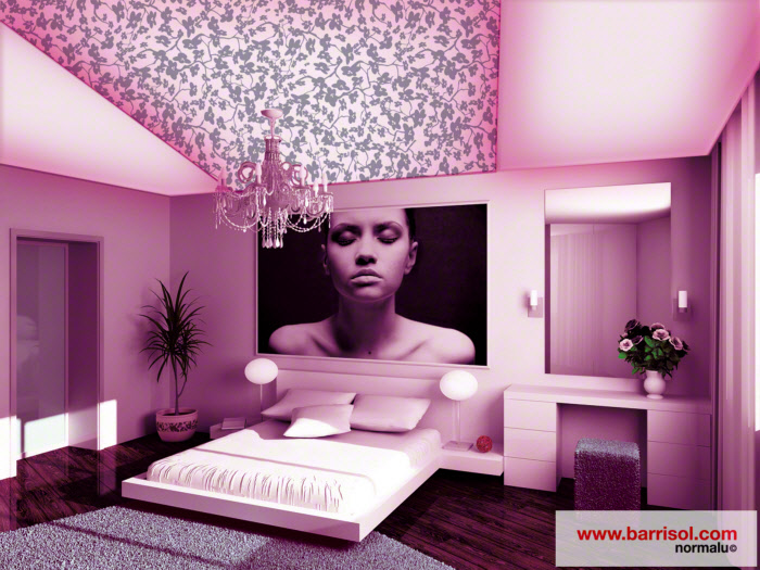 Luminaire Chambre Design : Barrisol Canada: Plafond tendu créatif Creadesign avec motifs en daim ...