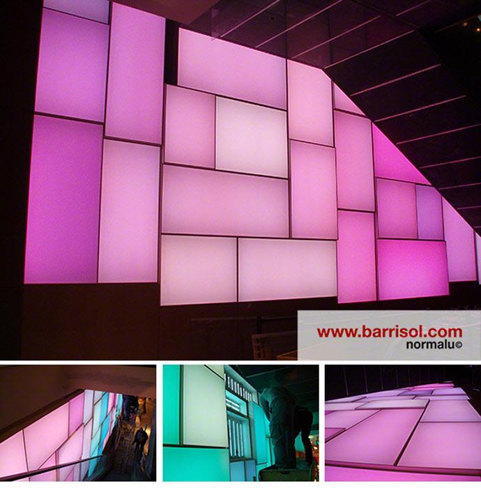 barrisol canada r alisation mur lumi re color. Black Bedroom Furniture Sets. Home Design Ideas