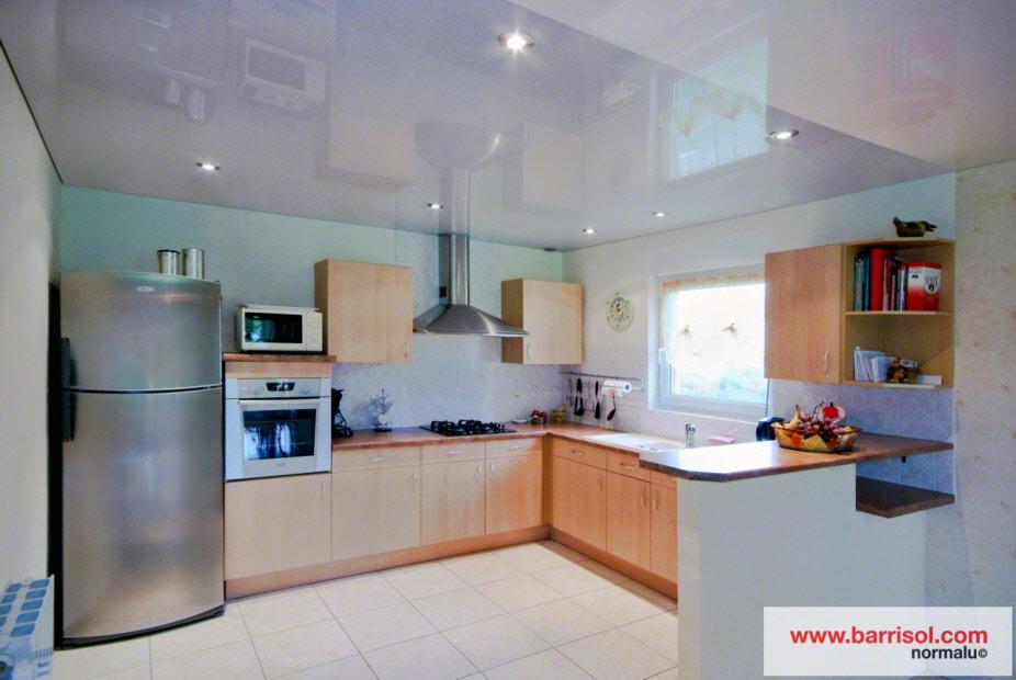 Как сделать пластиковой потолок на кухне